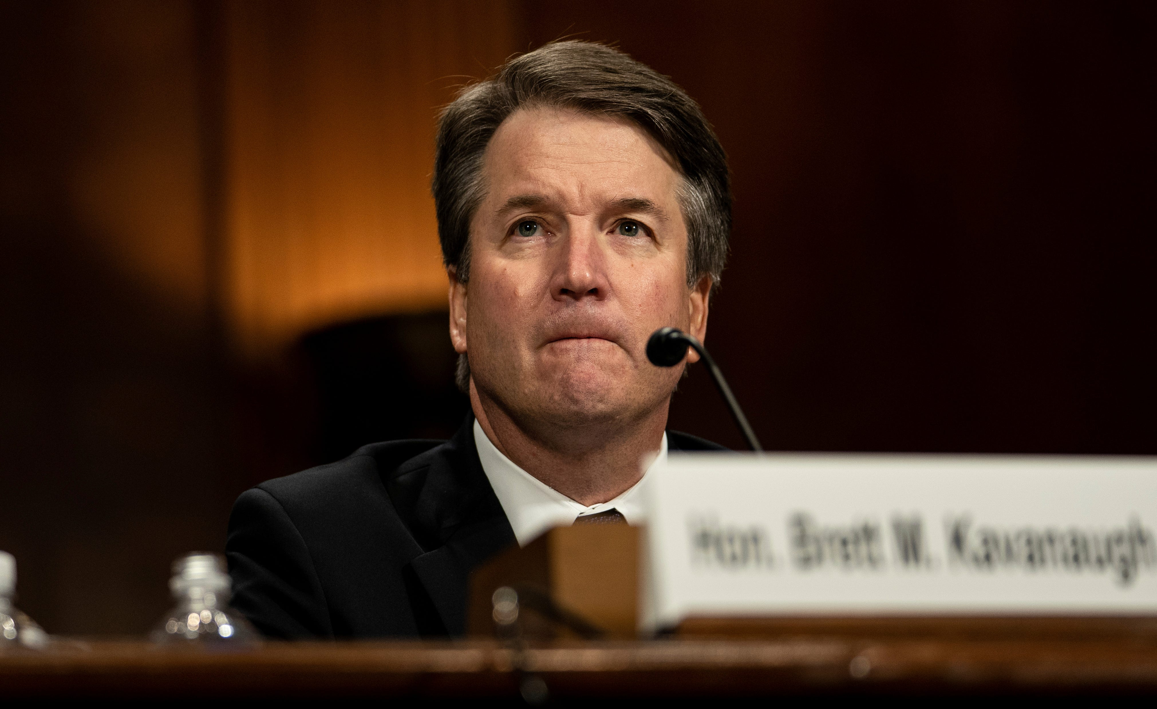 Supreme Court nominee Brett Kavanaugh testifies before the Senate Judiciary Committee on Capitol Hill on Sept. 27, 2108.