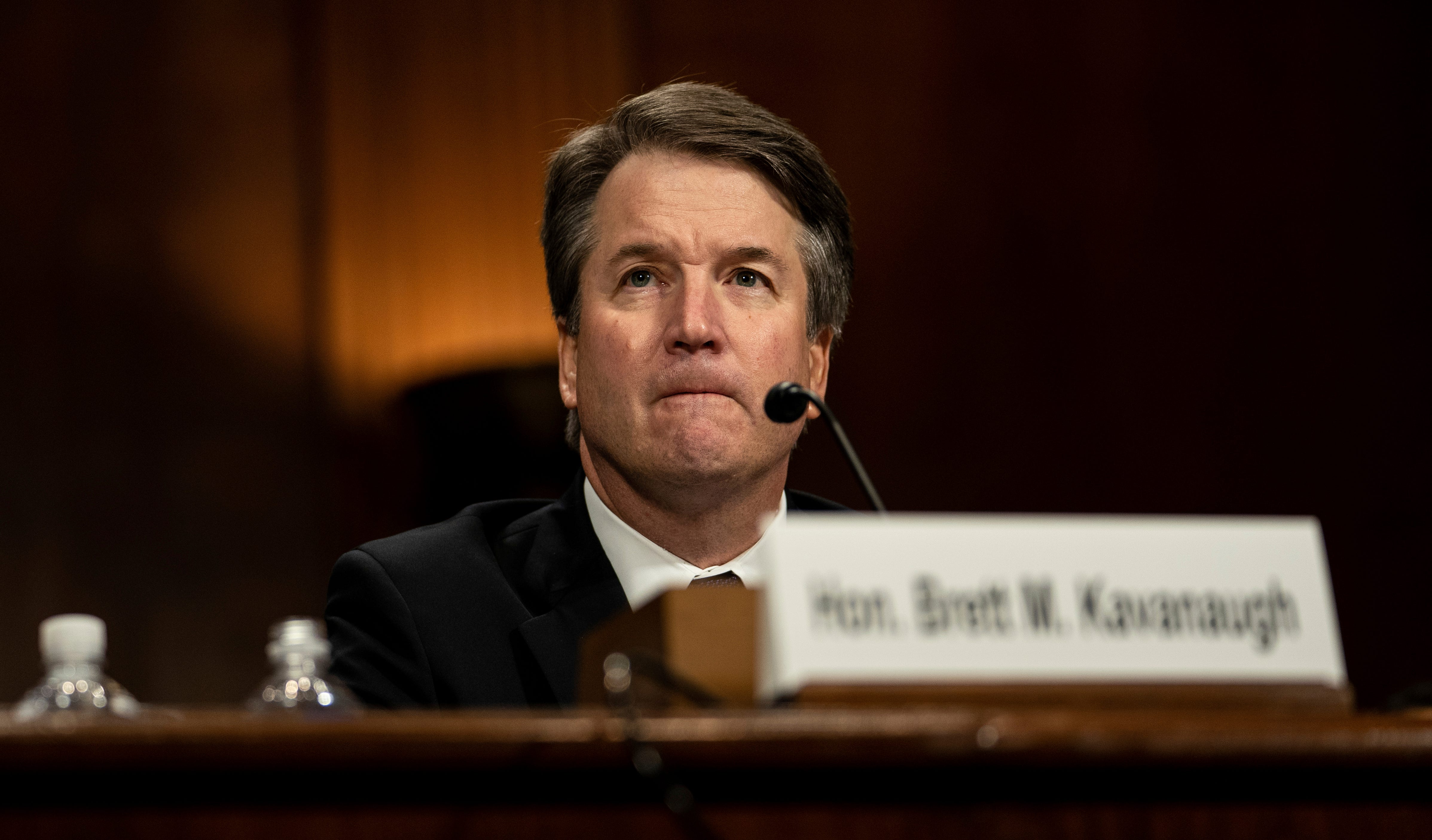 Supreme Court nominee Brett Kavanaugh testifies before the Senate Judiciary Committee on Capitol Hill, Thursday.