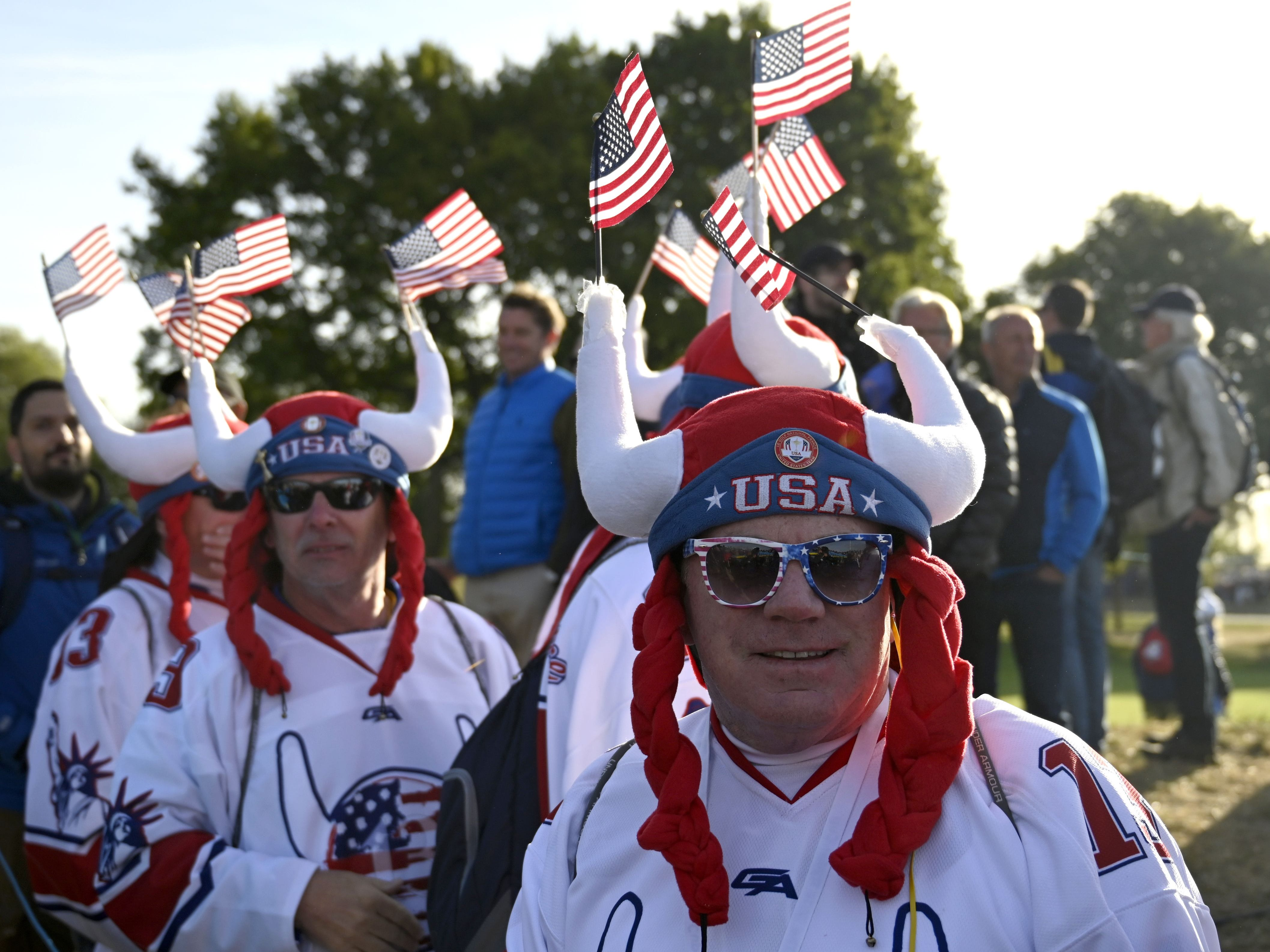Team USA fans were in full force on Saturday during the early fourball matches at the Ryder Cup.
