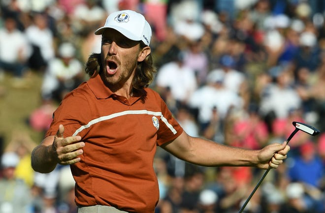 Tommy Fleetwood has been amazing in his Ryder Cup debut.