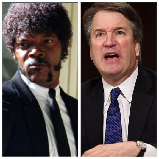 Samuel L. Jackson reacts to 'funny as hell' Brett Kavanaugh and 'Pulp Fiction' mash-up