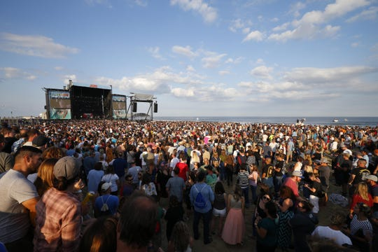 The Sea.Hear.Now crowd watching Blondie on the beach in Asbury Park on  Saturday, Sept. 29, 2018