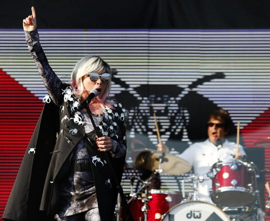 Blondie performs at the Sea.Hear.Now festival on the beach in Asbury Park on Saturday, Sept.  29, 2018.