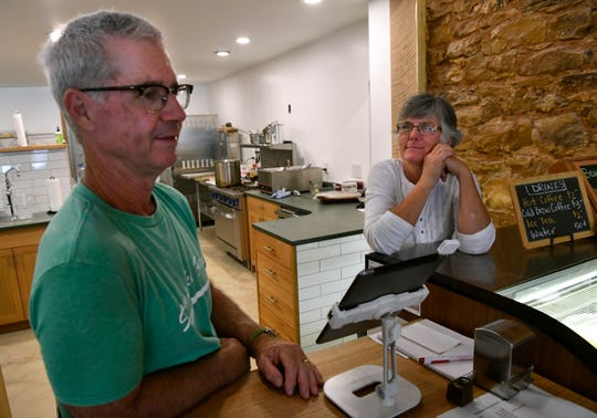REPORTER-NEWS FILE PHOTO - Kerry Hedges and his wife, Joy, of Slowpoke Farm Market in Cisco.
