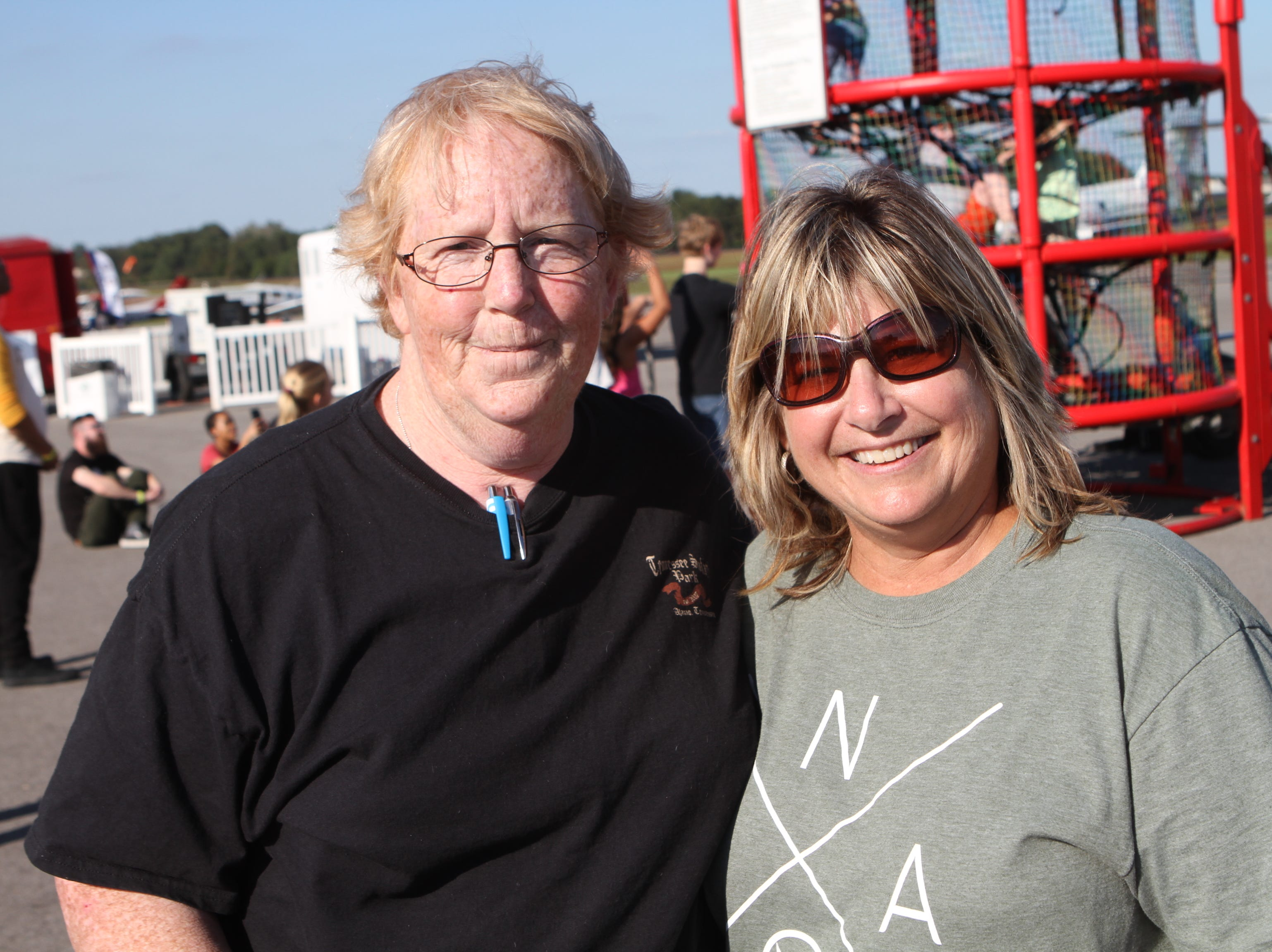 Patty Eads and Susan Anderson at Wags and Wings, a family fun and oktoberfest event to benefit the Humane Society of Clarksville-Montgomery County,  Saturday, Sept. 29, 2018.