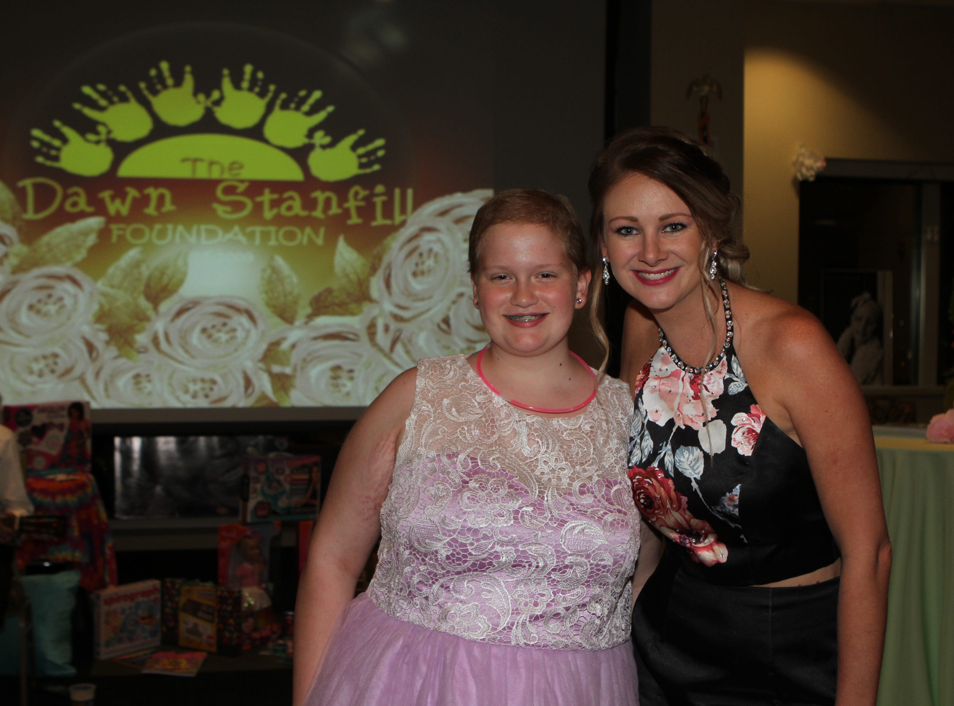 Jessika Winfield and Brittnye Stanfill at the Dawn Stanfill Foundation 10th Annual Dancing Til Dawn to benefit Middle Tennessee children battling pediatric cancer on Saturday, Sept. 29, 2018.