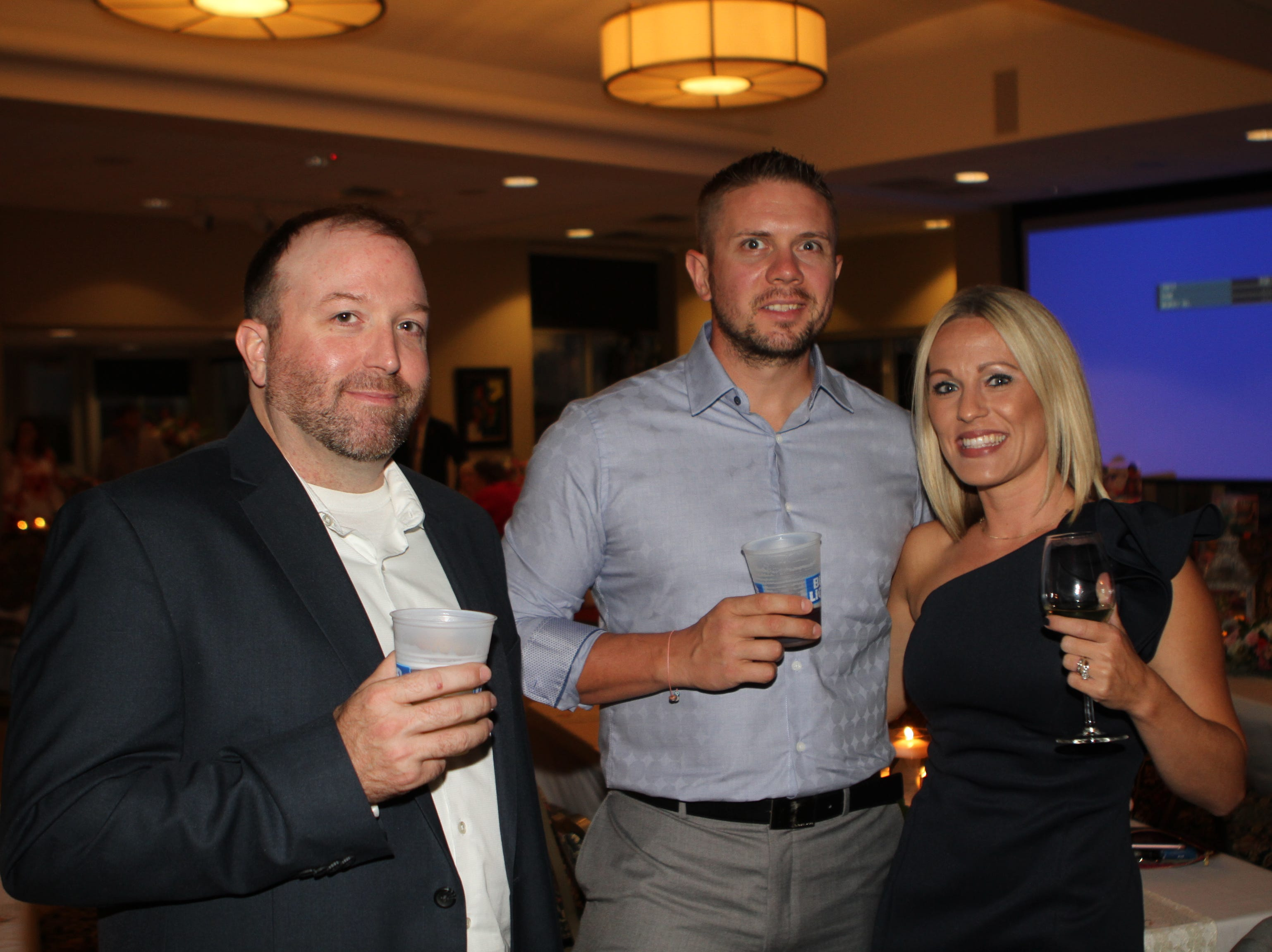 Brian Roberts, Ricky and Katie Sharp at the Dawn Stanfill Foundation 10th Annual Dancing Til Dawn to benefit Middle Tennessee children battling pediatric cancer on Saturday, Sept. 29, 2018.