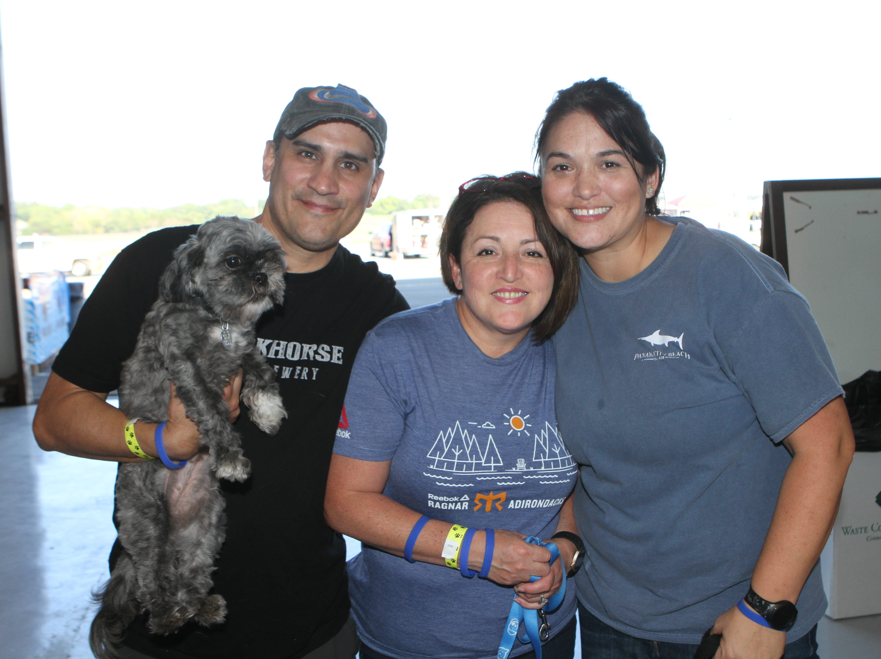 Francisco and Maria Vaszuez and Kim Thompson at Wags and Wings, a family fun and Oktoberfest event to benefit the Humane Society of Clarksville-Montgomery County, Sept. 29, 2018.