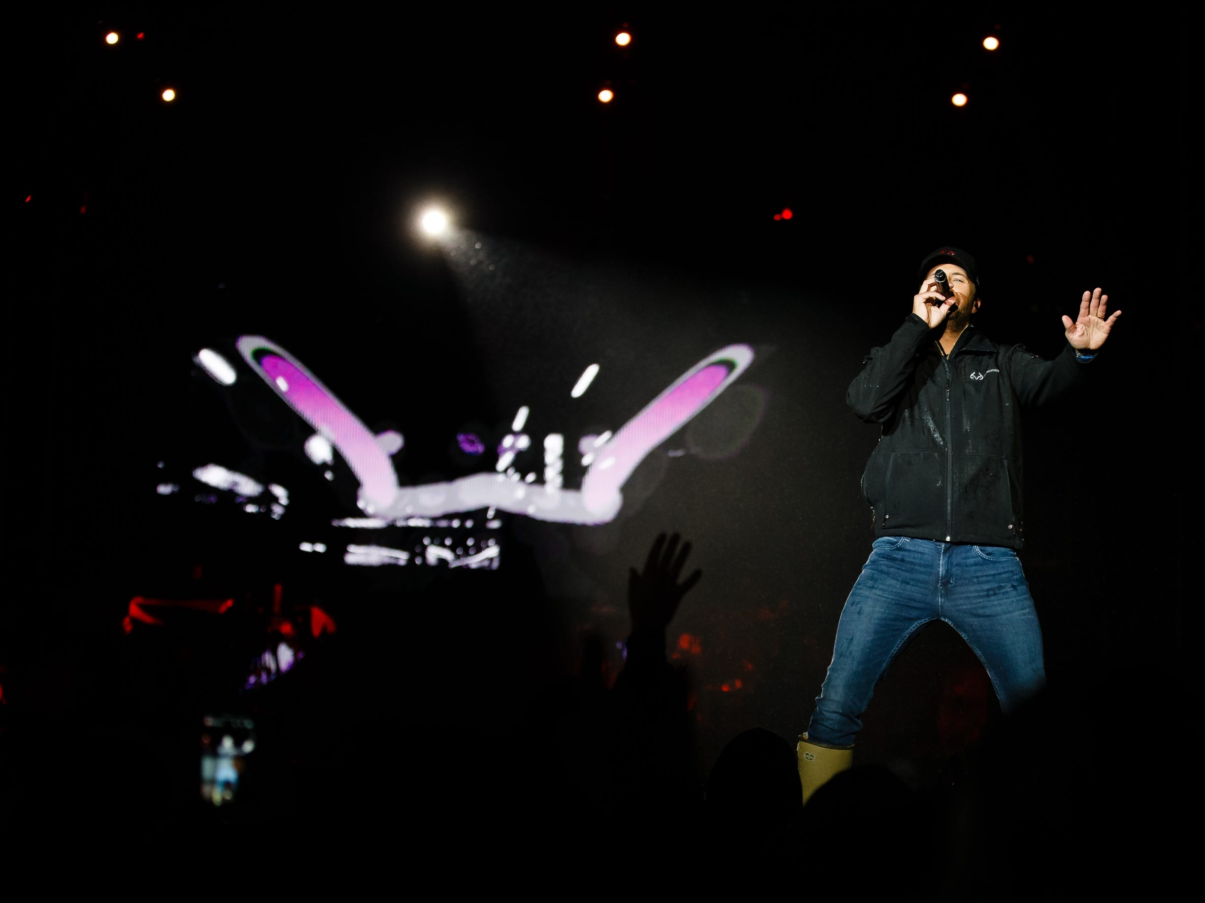 Luke Bryan performs during his Farm Tour on Saturday, Sept. 29, 2018 in Boone.