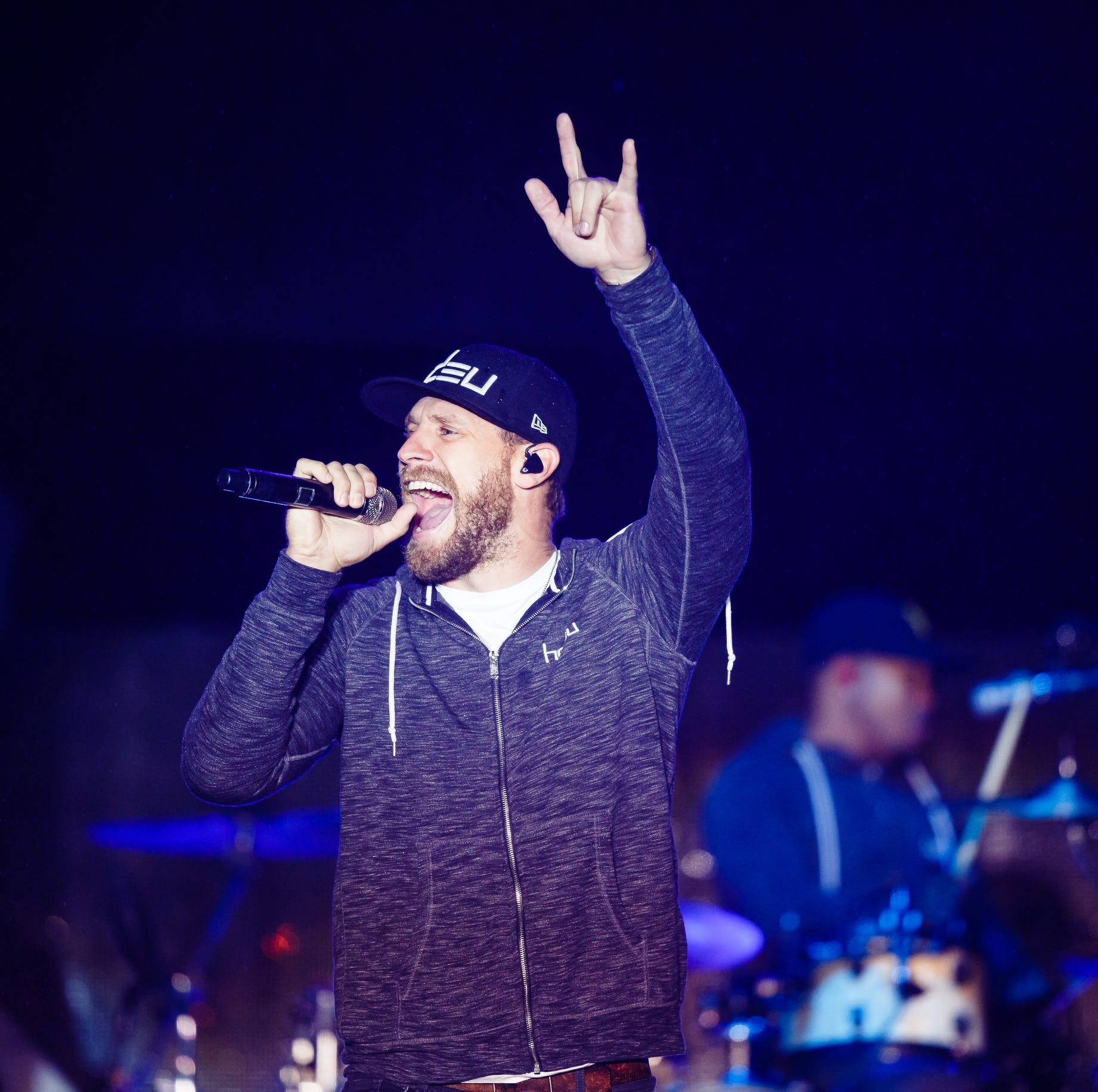 Chase Rice performs during Luke Bryan's Farm Tour on Saturday, Sept. 29, 2018 in Boone.