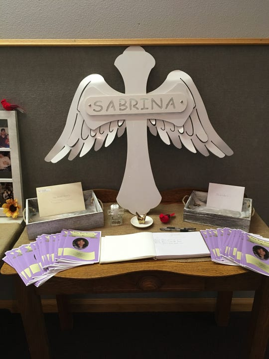 A celebration of life service was held on Sunday afternoon at the Church of Christ in Earlham in honor of Sabrina Ray who passed away over a year ago.