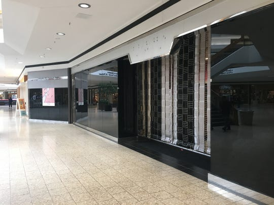 A vacant storefront in Lakeside Mall in Sterling Heights on Sept. 23, 2018