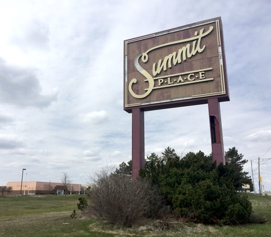 The sign on Telegraph for Summit Place Mall on April 13, 2016.