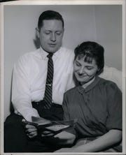 Thomas Brennan and his wife, Pauline, are shown on April 4, 1961.
