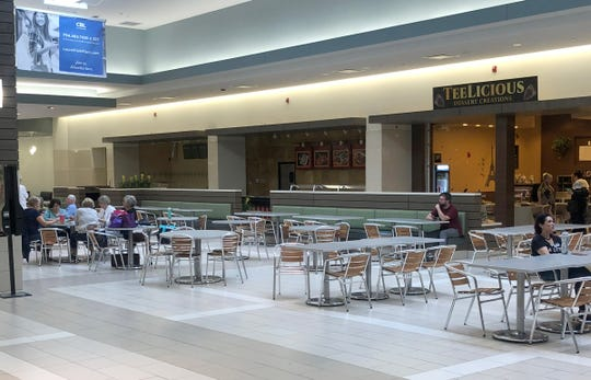 The depleted food court at Laurel Park Place on Sept. 25, 2018