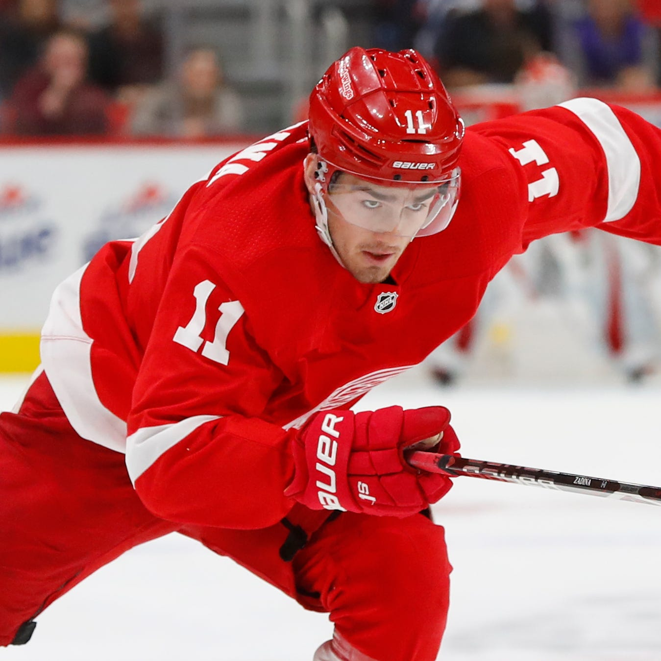 Pressure not a concern for Red Wings' Zadina as he makes NHL debut