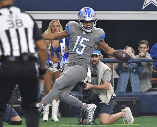"""""""I think Golden's a great player. I love the way he plays,"""" says Seahawks coach Pete Carroll of Lions receiver Golden Tate, who played for Seattle from 2010-13."""