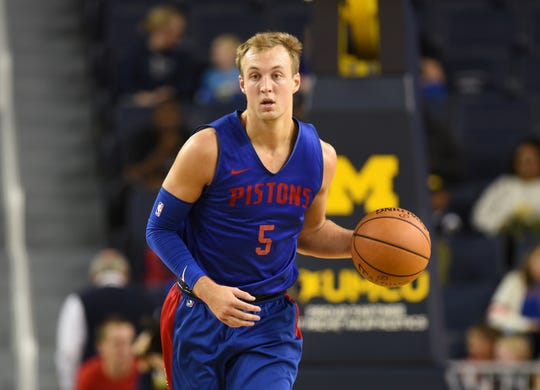 Second-year player Luke Kennard is part of a deep group of wings for the Pistons.