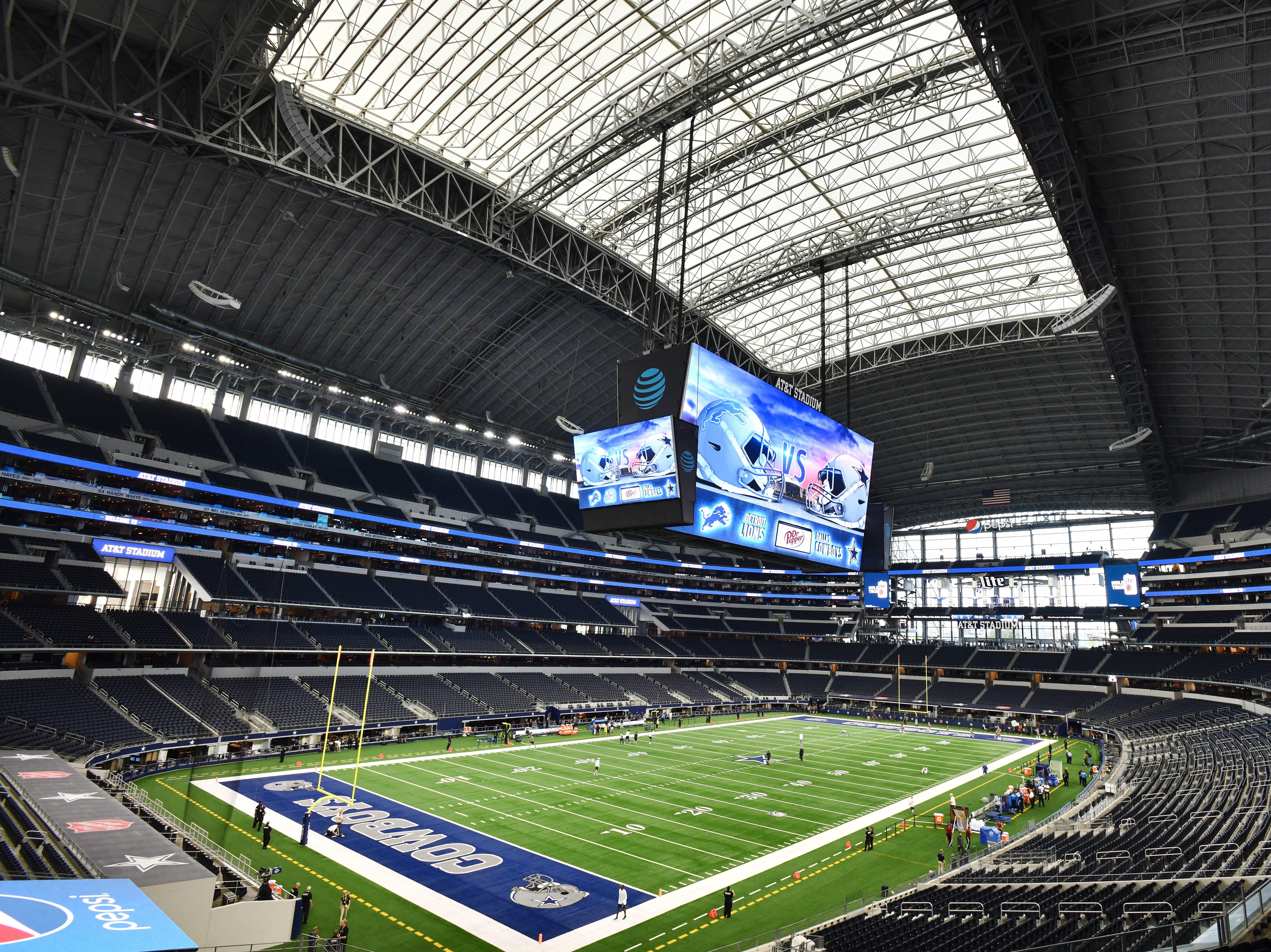 NFL Detroit Lions vs. Dallas Cowboys at AT&T Stadium in Arlington, Texas on September 30, 2018.