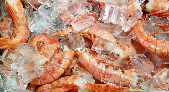 All fish and shellfish is kept on ice at Bubba Gandy.