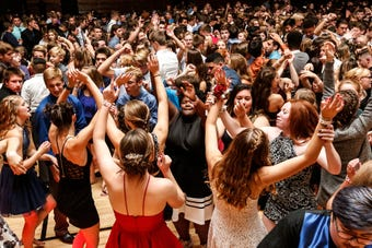 Video clips of Fond du Lac High School homecoming dance