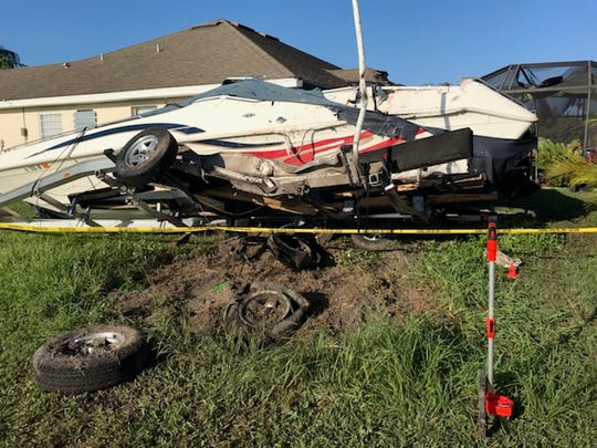 Scenes from the Cape Coral crash on Saturday that left one dead and three injured.