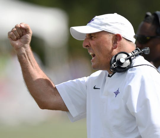 Furman head coach Clay Hendrix.