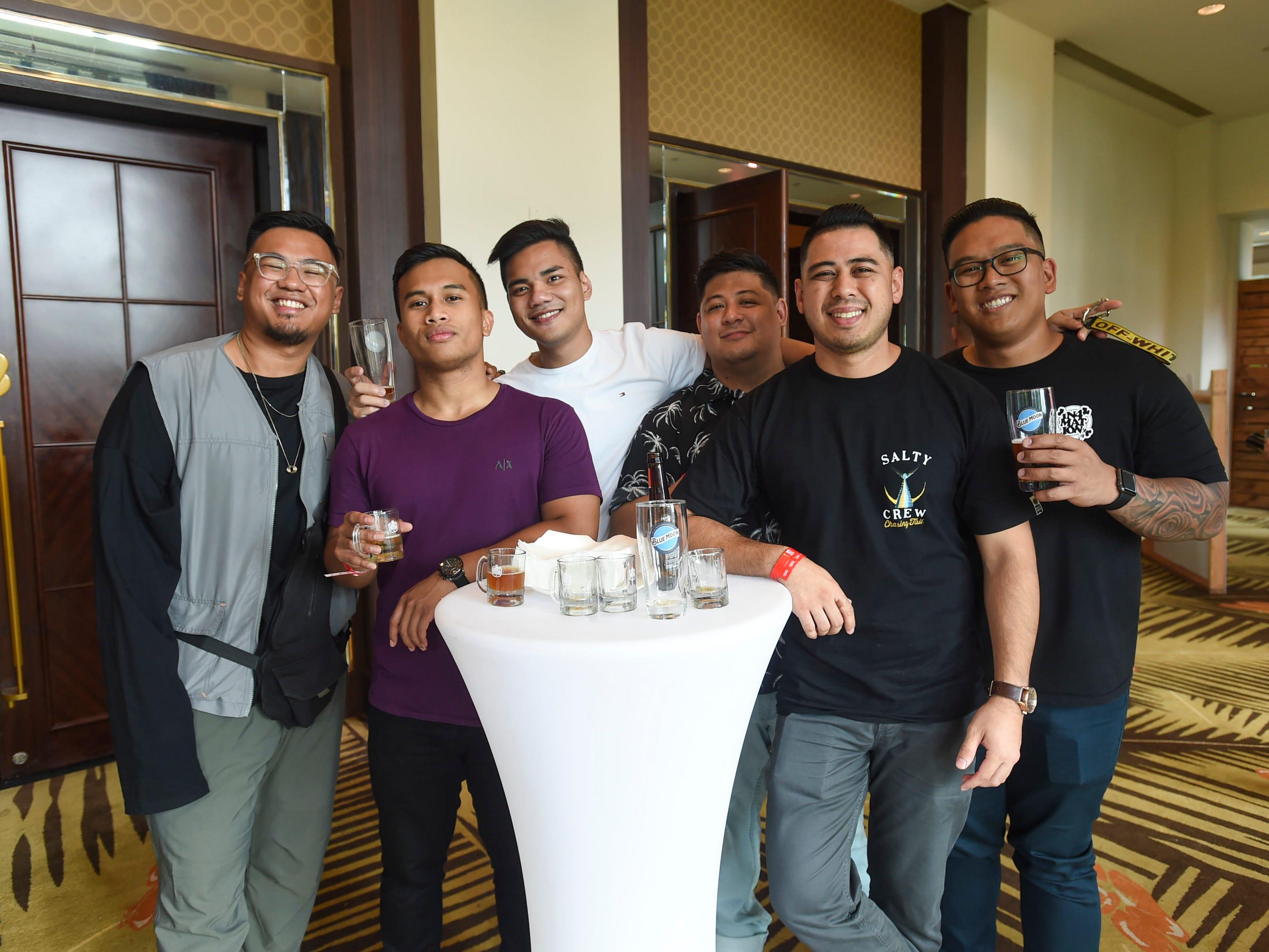 The Circle K Craft Beer Festival was held at the Sheraton Laguna Guam Resort, Sept. 29, 2018. From left: Kevin Quijano, Joaquin Arriola Bellis, Leo Acain, Handsom Calvo, Ryan Arriola, and Matthew Apelo.