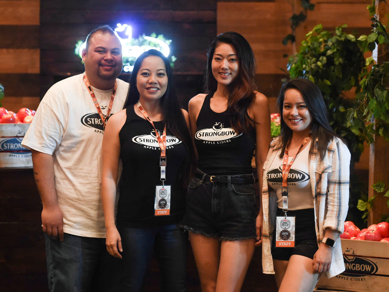 The Strongbow Apple Ciders crew during the Circle K Craft Beer Festival at the Sheraton Laguna Guam Resort, Sept. 29, 2018.From left: Panda Eustaquio, Jenise Guerrero, Maho Kogure, and Cierra Raphael.
