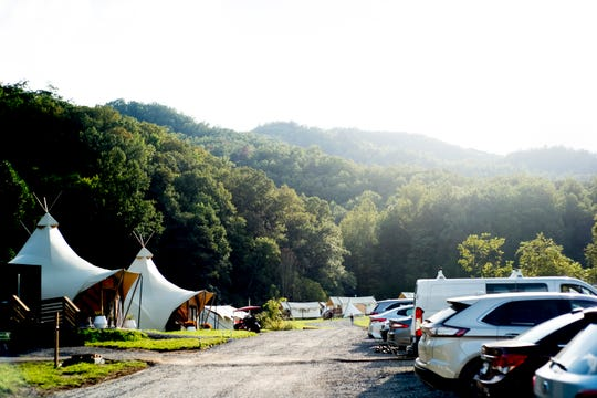 Under Canvas Great Smoky Mountains is found in a secluded, hilly region in Pigeon Forge, Tenn. Under Canvas is a glamping retreat where campers rent their own tents and have access to showers and meals.