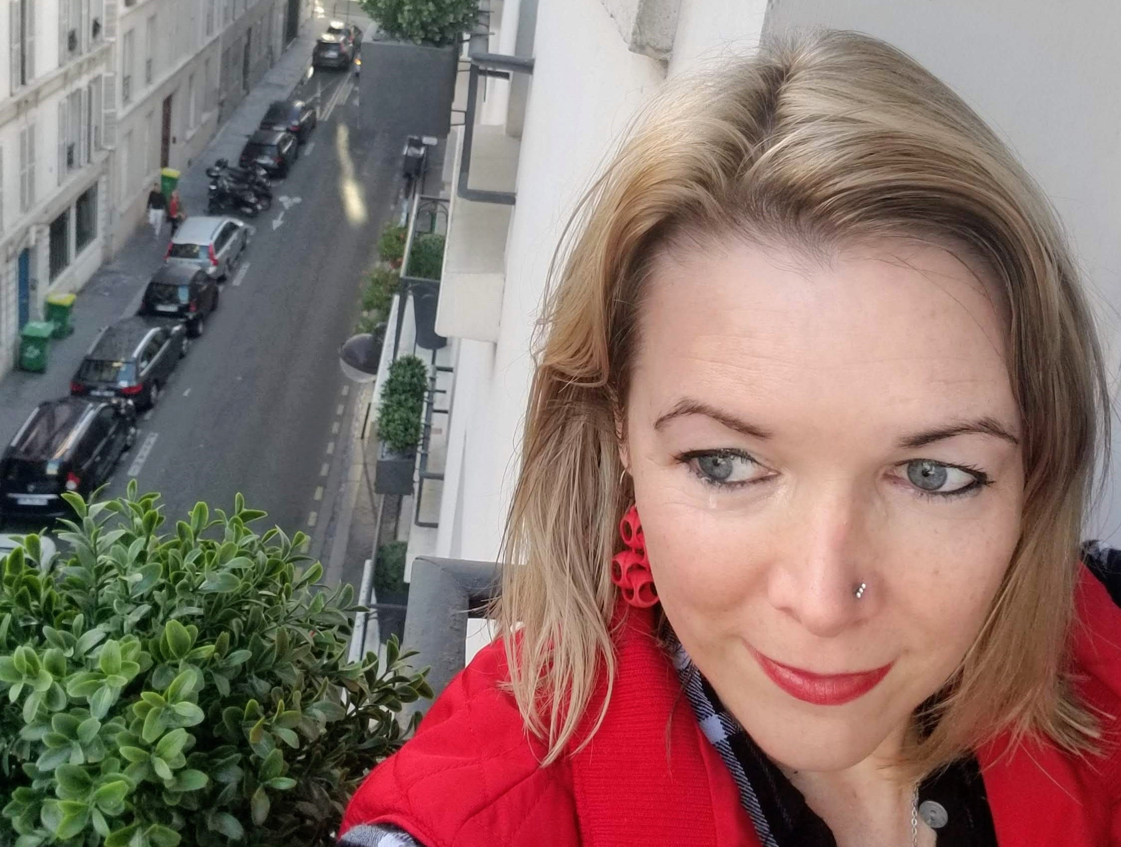 Michelle Schaefer enjoys the view in Paris.