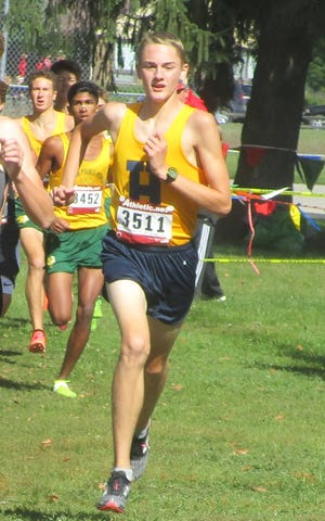 Hartland's Riley Hough ran the fastest 5,000-meter cross country race by a Livingston County runner in the Coaching Legends Invitational on Saturday, Sept. 29, 2018.