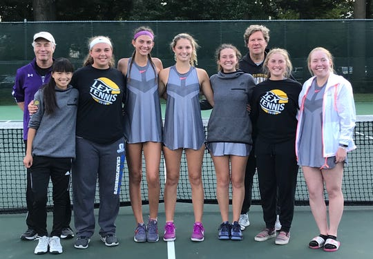 The Lexington girls tennis team won the Ohio Cardinal Conference on Saturday for the 15th time in the league's 16 years of existence.
