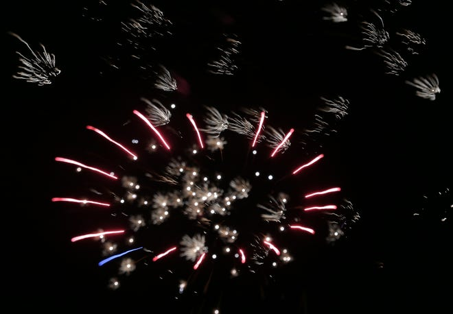 Fireworks displays are scheduled throughout the area to celebrate Independence Day.