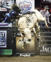 Riders meet bucking bulls at the Professional Bull Riders' competition at Fiserv Forum Saturday and Sunday.