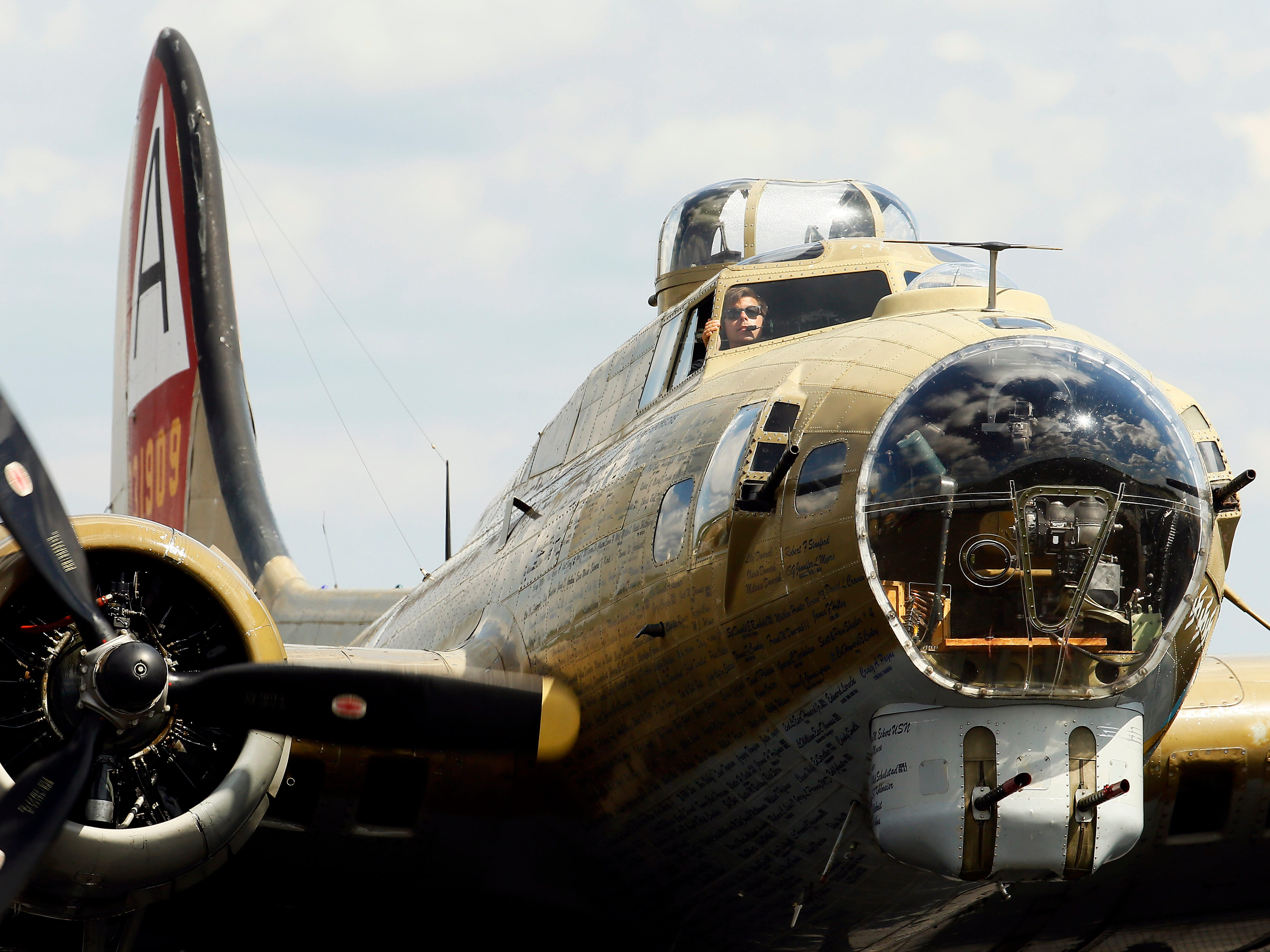 On Tuesday afternoon, WWII fighter planes, B-17 Flying Fortress, a B-24 Liberator, a B-25 Mitchell bomber and a P-51 Mustang fighter  flew into Morristown Airport as part of the Collings Foundation's Wings of Freedom Tour . September 4, 2018, Hanover, NJ