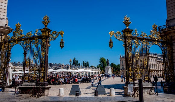 One of the gilded entrances to Stanislas Square
