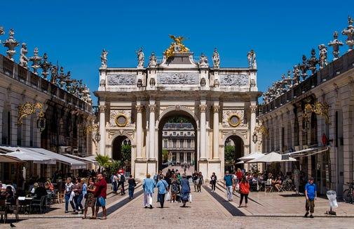 Arc de Triomphe at Stanislas Square in Nancy