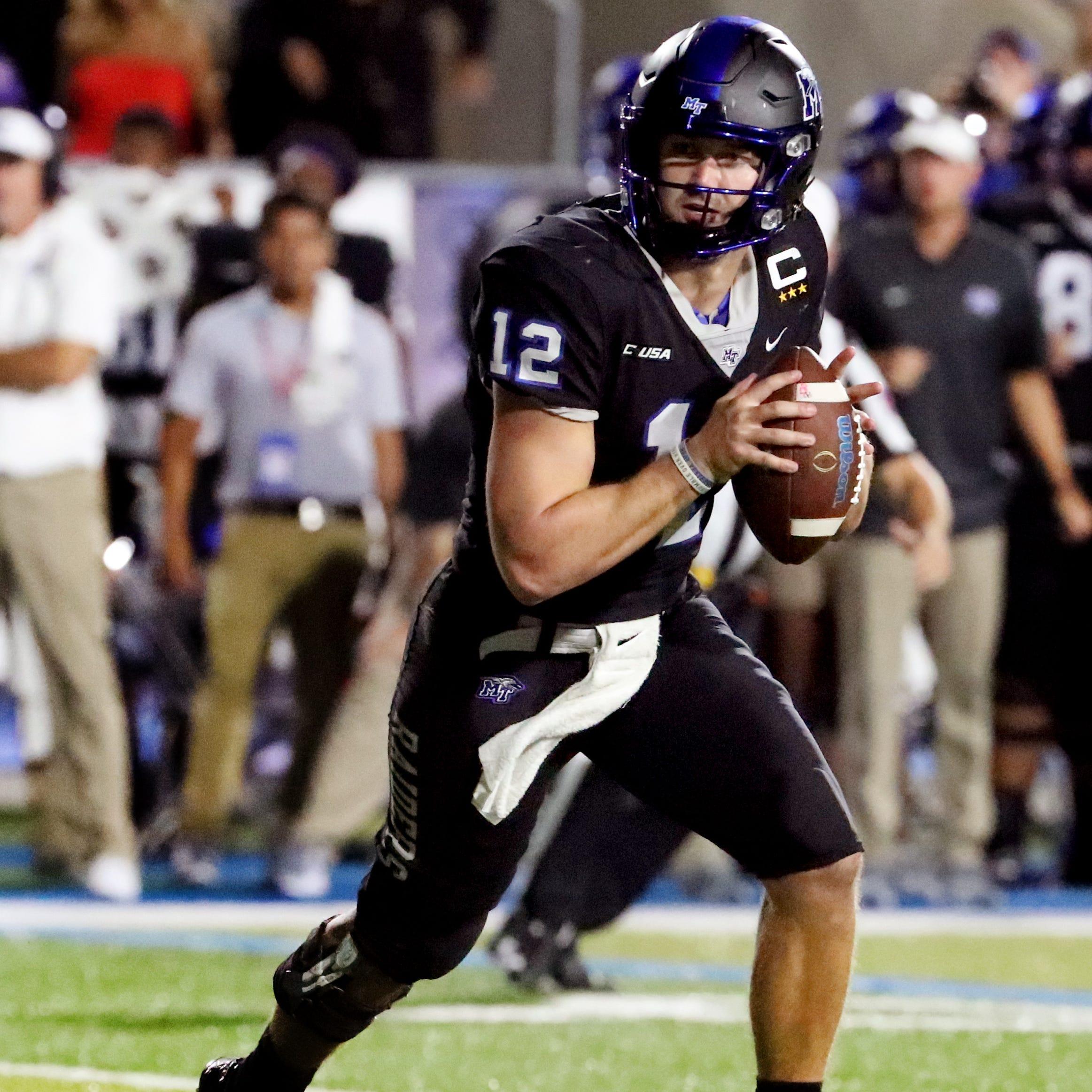 MTSU quarterback Brent Stockstill reaches 10,000 career passing yards