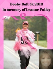 Leanne Pulley participated in the Booby Bolt 5K before she lost her fight with breast cancer.