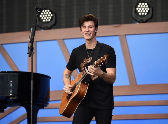 Musician Shawn Mendes performs at the 2018 Global Citizen Festival in Central Park on Saturday, Sept. 29, 2018, in New York.