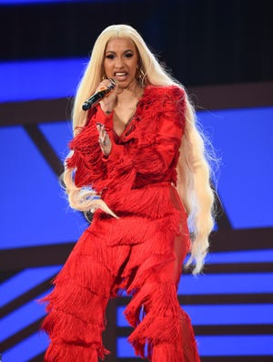 Hip-hop recording artist Cardi B performs at the 2018 Global Citizen Festival in Central Park on Saturday, Sept. 29, 2018, in New York. (Photo by Evan Agostini/Invision/AP)