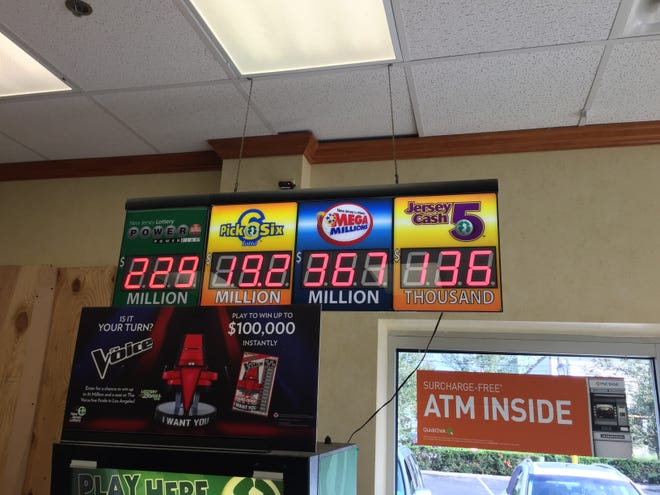 New Jersey Lottery and Mega Millions rise were rising before a Mega Millions jackpot winner was announced after Tuesday's drawing. Two second-tier winning tickets for $1M were sold at South Jersey stores.