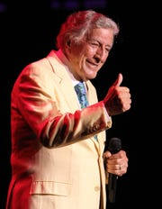 Tony Bennett, shown performing at the Count Basie Center for the Arts in Red Bank in 2017.