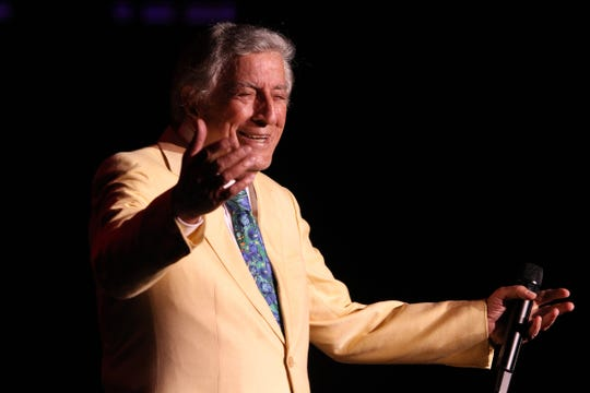 Tony Bennett performs at the Count Basie in Red Bank in 2017.