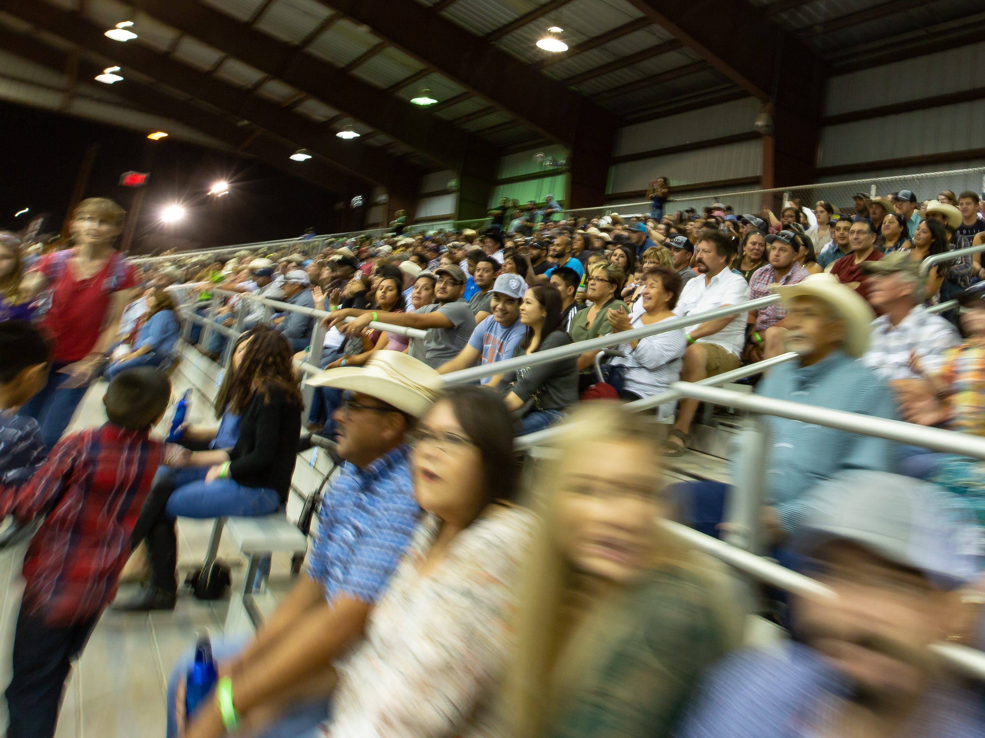 Patrons fill the Pete V. Domenici Arena on Saturday, Sept. 29, 2018, during the Southern New Mexico State Fair & Rodeo at the Southern New Mexico State Fairgrounds.