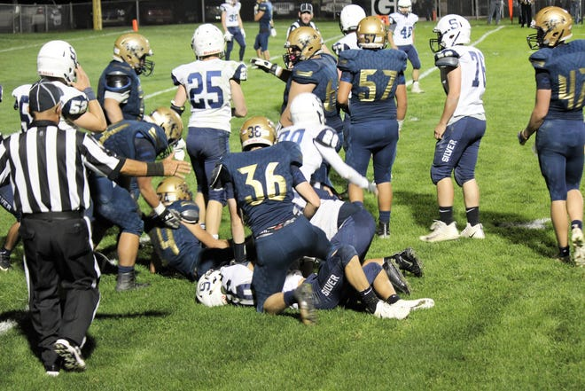 Warrior Wall holds strong against Silver City Sept. 28 at home.