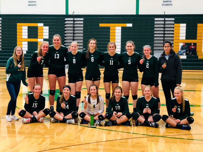 The Laconia girls volleyball team took first place at the Oshkosh North Spartan Invitational on Saturday.