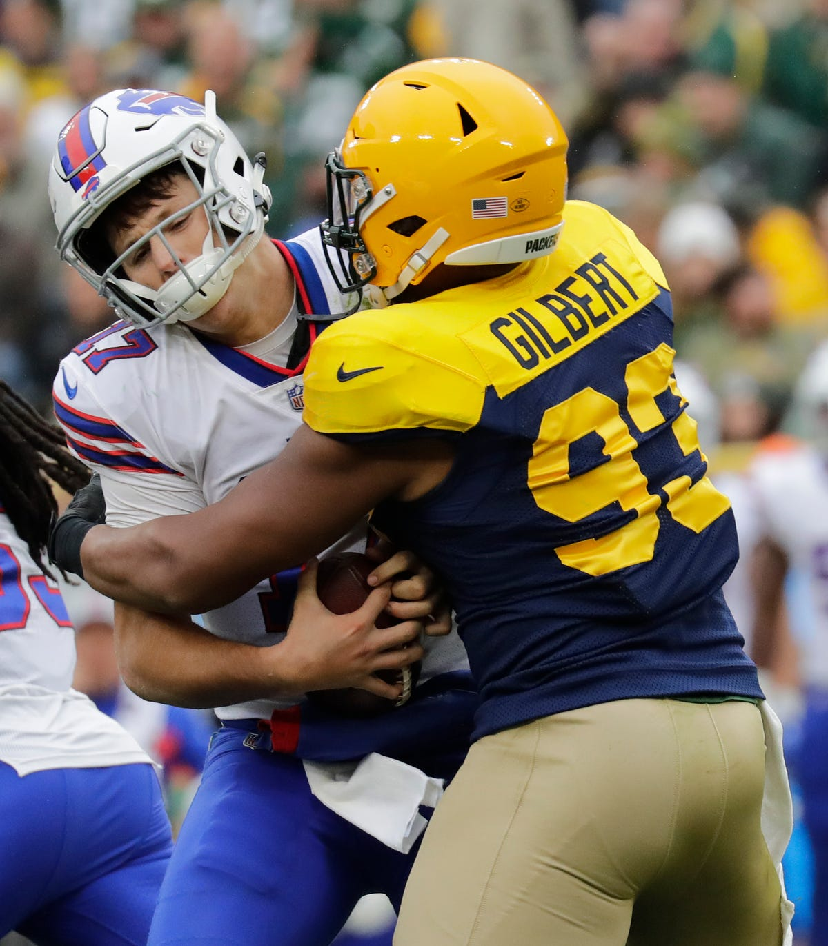 hot sale online e70d4 59e88 Packers deal OLB Reggie Gilbert to Titans for reported 7th ...