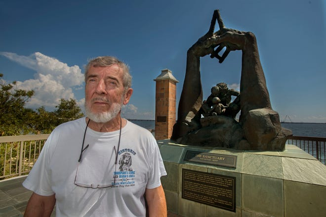 Clark Thompson, one of the founders of the Hawkshaw Lagoon Missing Children Memorial, says the memorial has been badly neglected.